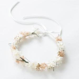 新潟県燕市 ドライフラワー専門店 Tette テッテ 花かんむり 記念日 お祝い ホワイトベージュ