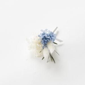 新潟県燕市 ドライフラワー専門店 Tette テッテ コサージュ 記念撮影 アクセサリー ホワイトブルー
